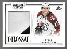 13/14 National Treasures Colossal #MXT Maxime Talbot 2 Color Jersey Patch #02/10