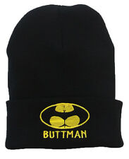 BUTTMAN Funny Spoof Parody Batman Beanie Hat Halloween Party BAT MAN