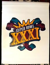 1997 SUPER BOWL XXXI PACKERS V. PATRIOTS 3x4 FT. SUPERDOME VINYL STADIUM BANNER