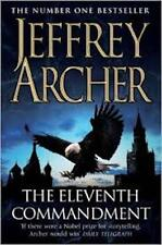 JEFFREY ARCHER _THE ELEVENTH COMMANDMENT__ SHOP SOILED _ EAGLE COVER  FREEPOST U