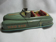 """VINTAGE LATE 1940s EARLY 50s TIN FRICTION NEW CAR CONVERTIBLE TOY 6.5""""L JAPAN"""