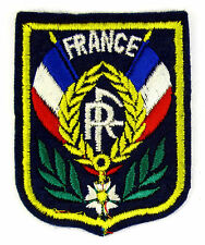 ECUSSON VILLE - REGION BLASON BRODE EMBROIDERED PATCH DOUBLE DRAPEAU FRANCE RF