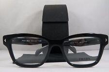 Prada VPR 10S 1AB-1O1 Shiny Black New Authentic Eyeglasses 51mm w/Case