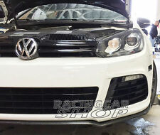 Real Carbon Fiber Black Chin Spoiler Fit For VW Golf 6 VI MK6 R20 Bumper V032