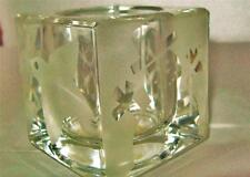 PARTY LITE CELEBRATION HOLIDAY Frosted Dove Snowflake Tree VOTIVE CANDLEHOLDER