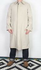 "London Fog Impermeabile MAC Cappotto Giacca 38 ""Beige Small Medium (23 ter) con fodera"