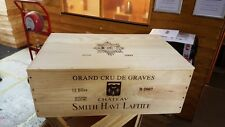 1 X 12 BOTTLE WINE BOX WITH LID - WOODEN CRATE PLANTER CHRISTMAS HAMPER RETRO