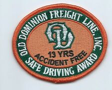 Old Dominion Freight Lines Inc driver patch 13 yrs accident free safe drvg #442