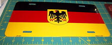 German Flag Metal Novelty License Plate made in the USA - great Germany item!
