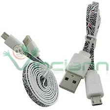 Cavo dati ZEBRATO per HTC One M8 / M7 / M8 mini / E8 cavetto filo piatto USB
