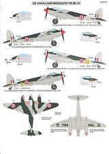 Berna Decals 1/48 DE HAVILLAND MOSQUITO FB Mk.VI Post-War Air Forces