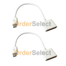 2 White Converter Charger Adapter for Apple iPhone 3 4 Female to Micro USB Male