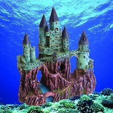 Aquarium Resin Vintage Ancient Castle Fish Tank Ornament Fish MIcro Decoration