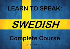 LEARN TO SPEAK SWEDISH - LANGUAGE COURSE - TEXTBOOK & 9 HRS AUDIO MP3 ALL ON DVD