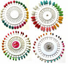 Pearlised Sewing Pins With Wheel For Dressmaking Tailor Scarf Hijab Craft