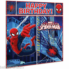 5 Piece Marvel Ultimate Spider-Man Birthday Party Wall Decorating Kit