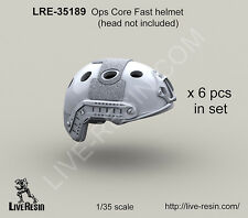 Live Resin 1/35 Ops Core Fast Helmet Set without Head (6 sets)