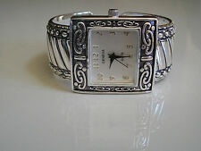 CHARMING LADIES WESTERN STYLE SILVER FINISH BANGLE CUFF FASHION WATCH
