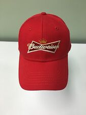 Budwieser Hat Cap Red Light Weight Snap Adjustable Back Strap Nice! NWOT