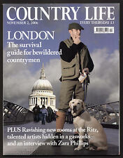 Country Life Nov 2006 RITZ WILLIAM KENT HOUSE HIGHCLERE RACING ZARA PHILLIPS