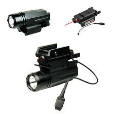 Cree Flashlight Red Laser/Sight For Pistol Gun Glock 17 19 20 21 22 30 31 37 38