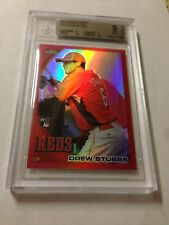 2010 TOPPS CHROME RED REFRACTOR ROOKIE DREW STUBBS REF RC /25 BGS 9 MINT