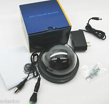 """1/3"""" SONY CCD VIDEO DOME COLOR CCTV CAMERA ST-D4202.8-B BLACK 420 TV LINES"""