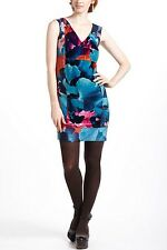ANTHROPOLOGIE Leifsdottir Night Peony Velvet Dress NwT Size 4