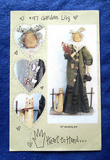 """HEART TO HAND """"GARDEN LILY"""" VINTAGE 32"""" DOLL PATTERN"""