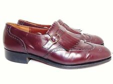 VINTAGE DACK'S SHOES 11 E BURGUNDY MONK STRAP LOAFERS EXC!