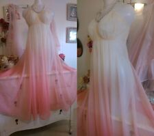 VANITY FAIR Vintage Ombre Nightgown Negligee Gown Lingerie Nightdress Slip Dress