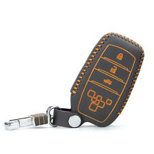High Quality leather Smart Remote Key Case Cover Holder For Toyota Corolla/Prado