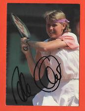 Orig.Autogramm   ANKE HUBER - auf YONEX Karte B // 90ziger Jahre  !!  SELTEN