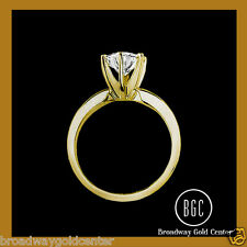 14K YELLOW GOLD 2.00 CT MAN-MADE DIAMOND SOLITAIRE ENGAGEMENR RING ON SALE NOW!!