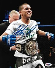 Anthony Pettis Signed UFC 8x10 Photo PSA/DNA COA WEC 53 Belt Picture Autograph 1