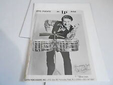 #886 VINTAGE 8x10 MUSICIAN PHOTO - LATIN PERCUSSIONS  DRUMS - TITO PUENTE