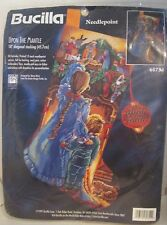 Bucilla 60754 UPON THE MANTLE Needlepoint Stocking Kit ~ Rossi ~ Sealed