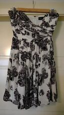 Piper Lane Black and White Floral Origami Strapless Dress Size 8