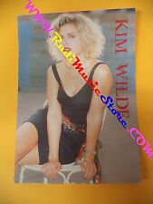 CARTOLINA PROMOZIONALE POSTCARD KIM WILDE 1988 Anabas 12x17 cm no*cd dvd lp mc