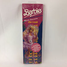 Vintage Barbie Music Cassette The Look Dance Songs Mattel 1990 New