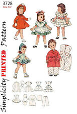 Vintage 16 inch toni doll clothes sewing patterns - 1950's - simplicity 3728