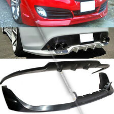 Fit 2DR Genesis Coupe Sport Style Rear Diffuser + Walker Style Front Lip Combo