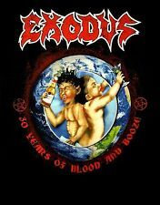 EXODUS cd cvr BONDED BY BLOOD 30 YRS OF BLOOD AND BOOZE Official SHIRT MED new