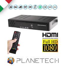 DVB-T HD T2 RICEVITORE DIGITALE TERRESTRE HDMI MPEG4 DIVX JPEG USB H264 DECODER