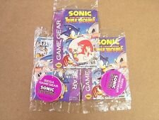 POGS SONIC TRIPLE TROUBLE SEGA GAME GEAR UNOPENED 3 PACK LOT
