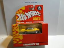 Hot Wheels 100% Red Box Yellow '69 Plymouth GTX