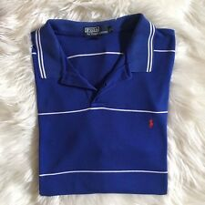 Polo Ralph Lauren Polo Shirt - Size XL - Blue Polo - White Stripe - Red Horse
