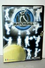 MATCHBALL GIOCO USATO OTTIMO STATO PC CD ROM EDIZIONE ITALIANA TENNIS 35964