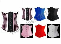 Satin Underbust Corset Waist Cincher Moulin-Rouge Basques Burlesque Fancy Dress