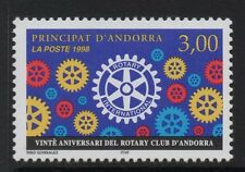 ANDORRA SGF539 1998 20th ANNIV OF ROTARY INT. IN ANDORRA MNH